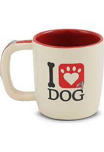 Caneca Pet-Dog 350Ml -Mondoceram - Creme