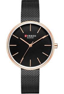 Relógio Curren Analógico C9042L Feminino - Feminino-Preto