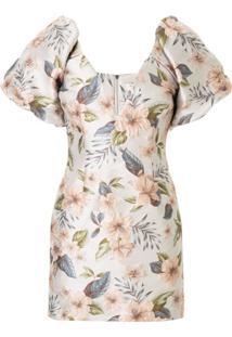 Bec + Bridge Vestido Fleurette Jacquard Floral - Estampado
