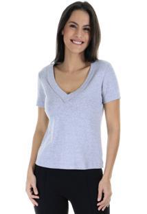 Camiseta Malha Lisa - Cinza - Feminino - Dafiti