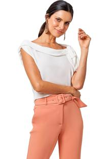 Blusa Mx Fashion Com Amarração Vitória Off White