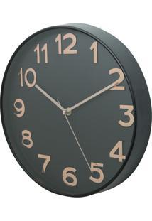 Relógio Parede Plástico Big Numbers Cobre 30X5X30Cm