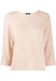 Peserico Suéter Com Bordado De Paetês - Rosa