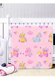 Cobertor Para Bebê - Rosa