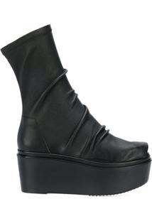 Rick Owens Ankle Boot Com Plataforma - Preto