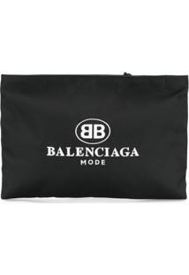 Balenciaga Clutch 'Explorer' De Couro - Preto