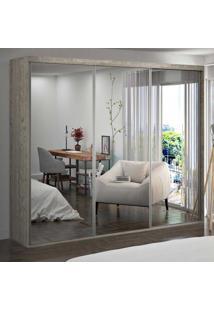 Guarda-Roupa Casal 3 Portas De Espelho 100% Mdf 1987E3 Demolição - Foscarini