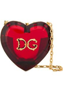 Dolce & Gabbana Bolsa Transversal Heart - Vermelho
