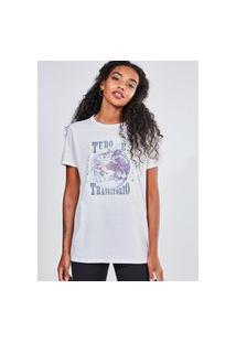 Camiseta Off-White Tudo É Transitório