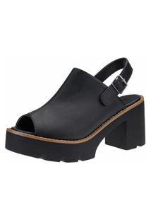 Sandália Gigil Plataforma Tratorada Sandal Boot Preto