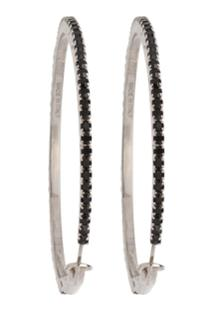 Miu Miu Crystal Embellished Hoop Earrings - Preto