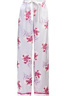 Morgan Lane Calça De Pijama 'Chantal' Em Seda - Roxo