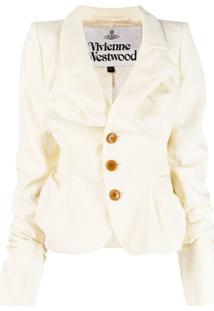 Vivienne Westwood Ruched Button Jacket - Neutro