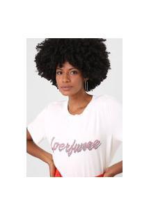 Camiseta Lança Perfume Logo Aplicação Off-White