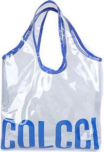 Bolsa Colcci Tote Dinamarca Feminina - Feminino-Azul