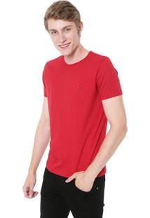 Camiseta Tommy Hilfiger Essential Vermelha