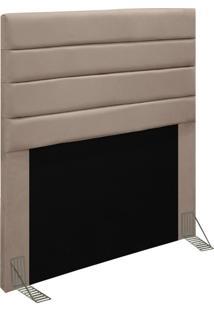 Cabeceira Para Cama Box Solteiro 90Cm Rubi D10 Suede Bege - Mpozenato - Unico - Dafiti