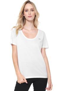 db1802d671bc5 Camiseta Branca Lacoste feminina   Shoelover