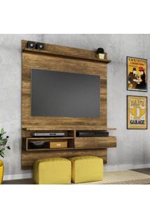 Painel Para Tv 60 Polegadas Sírius Canela Rústico 135 Cm
