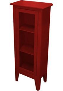 Cristaleira Colonial 1 Porta Atz 113 - Vermelho