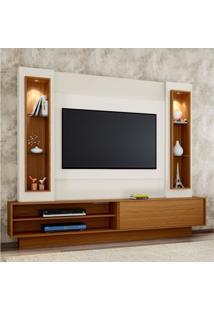 Estante Home Para Tv Até 46 Polegadas 1 Porta De Correr Led Tb129L Dalla Costa Off White/Freijó