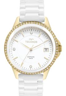 Eclock. Relógio Aço Dobrável Analógico Tamanho Grande Feminino Technos  Clock 2315kzs 4b Ceramic Elegance 7489874bcf