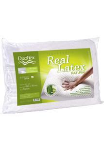 Travesseiro Duoflex De Látex Capa 100% Algodão Dry Fresh 100% Látex Branco
