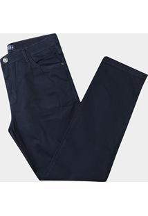 Calça Preston Sarja Plus Size - Masculino-Marinho