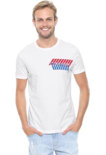 Camiseta Calvin Klein Estampada Branco