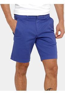 Bermuda Lacoste Regular Fit Sarja Color Masculina - Masculino