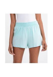 Short De Pijama Liso Com Lastex | Lov | Azul | Gg