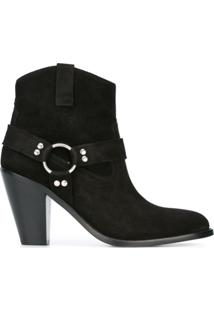 Saint Laurent Ankle Boot Modelo 'Curtis 80' - Preto