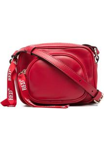 Red(V) Logo-Tape Detail Shoulder Bag - Vermelho