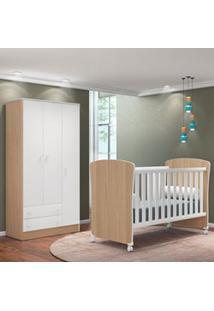Quarto De Bebê Guarda Roupa Doce Sonho E Berço 2484 Certificado Pelo I