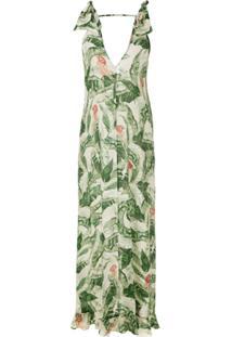 7235f24f85 ... Adriana Degreas Vestido Longo Com Amarração - Verde