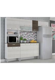 Cozinha Compacta Serena Com Balcão Branco Com Rovere E Cp Dubai - Kit'S Paraná