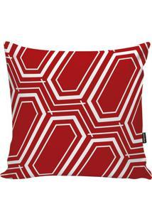 Capa Para Almofada Geometric- Vermelha & Branca- 45Xstm Home