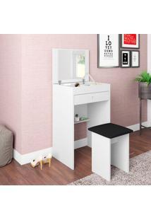 Penteadeira Com Espelho E 1 Gaveta Mimo Pe500 – Art In Móveis - Branco