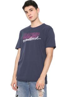 Camiseta Fiveblu Manga Curta Lettering Azul-Marinho