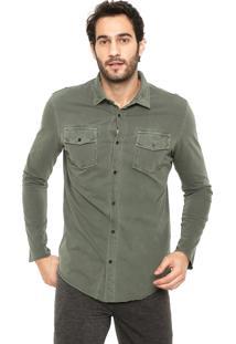 Camisa Osklen Reta Army Verde