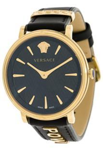 dad62b7fe8e Farfetch. Relógio Feminino Aço Inox Vidro Couro Giani Versace ...