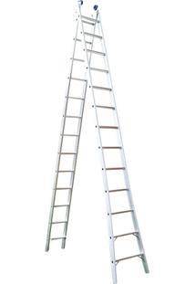 Escada Extensivel 2 X 13 26 Degraus - Unissex-Prata