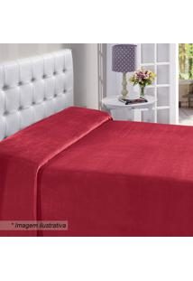 Manta Flanel Queen Size- Vermelha- 180X220Cm- Bubuettner