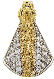 Pingente Narcizza Semijoias Nossa Senhora Aparecida Zircônia Cristal - Ouro - Kanui
