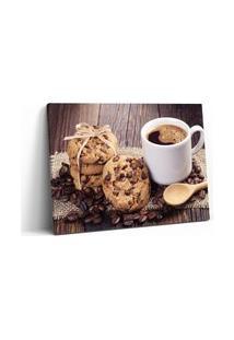 Quadro 60X90Cm Gastronomia Cookies Café Em Canvas