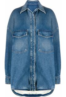 The Attico Jaqueta Jeans Oversized - Azul