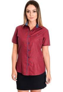 Camisa Pimenta Rosada Leonela - Feminino-Vermelho+Azul