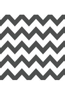 Papel De Parede Chevron Cinza Escuro E Branco (950X52)