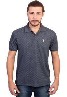 Camisa Polo Golf Club Full Print - Masculino-Cinza