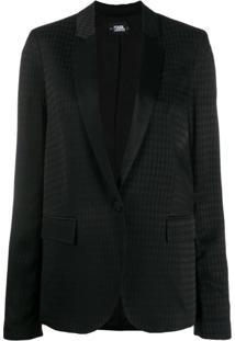 Karl Lagerfeld Blazer Jacquard 'Karl' - Preto